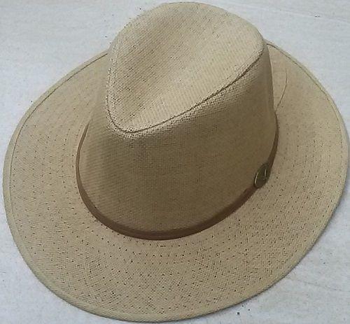Ladies Straw Fedora Hat