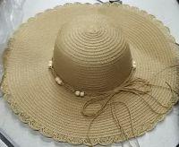 Beige Floppy Sun Hat