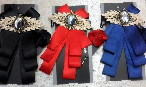 Ribbon Bowknot Brooch Pin Set