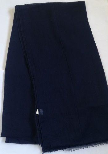 Navy Blue Cotton Scarf