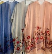 Embroidered Cotton Kimonos