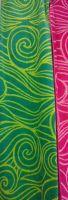 Spirals Print Beach Towel