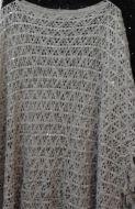 Ladies Crochet Poncho Grey