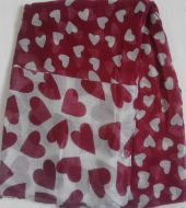 Hearts Print Scarf