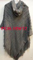 Grey Knitted Polar Neck Poncho