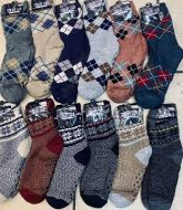 Patterned Winter Furry Socks 12 Pairs