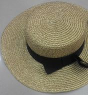 Gold Boater Hat