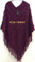 Maroon Ladies Knitted Poncho