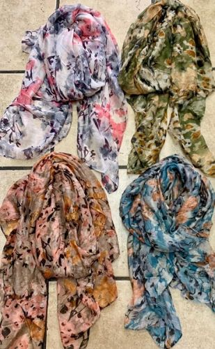 Floral Patterned Scarves