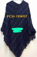 Navy Blue Mexican Poncho