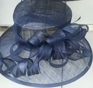 Fancy Blue Sinamay Hat