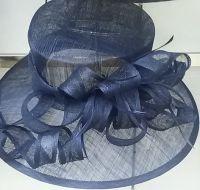 Fancy Blue Sinamay Hat