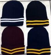 Striped School Beanie Hat
