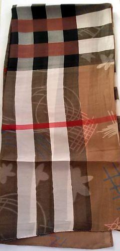 Printed Long Silk Scarves
