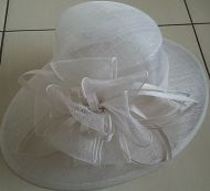 Ladies White Wedding Hat