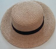 White Straw Boater Hat