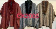 Warm Fur Collar Wool Ponchos